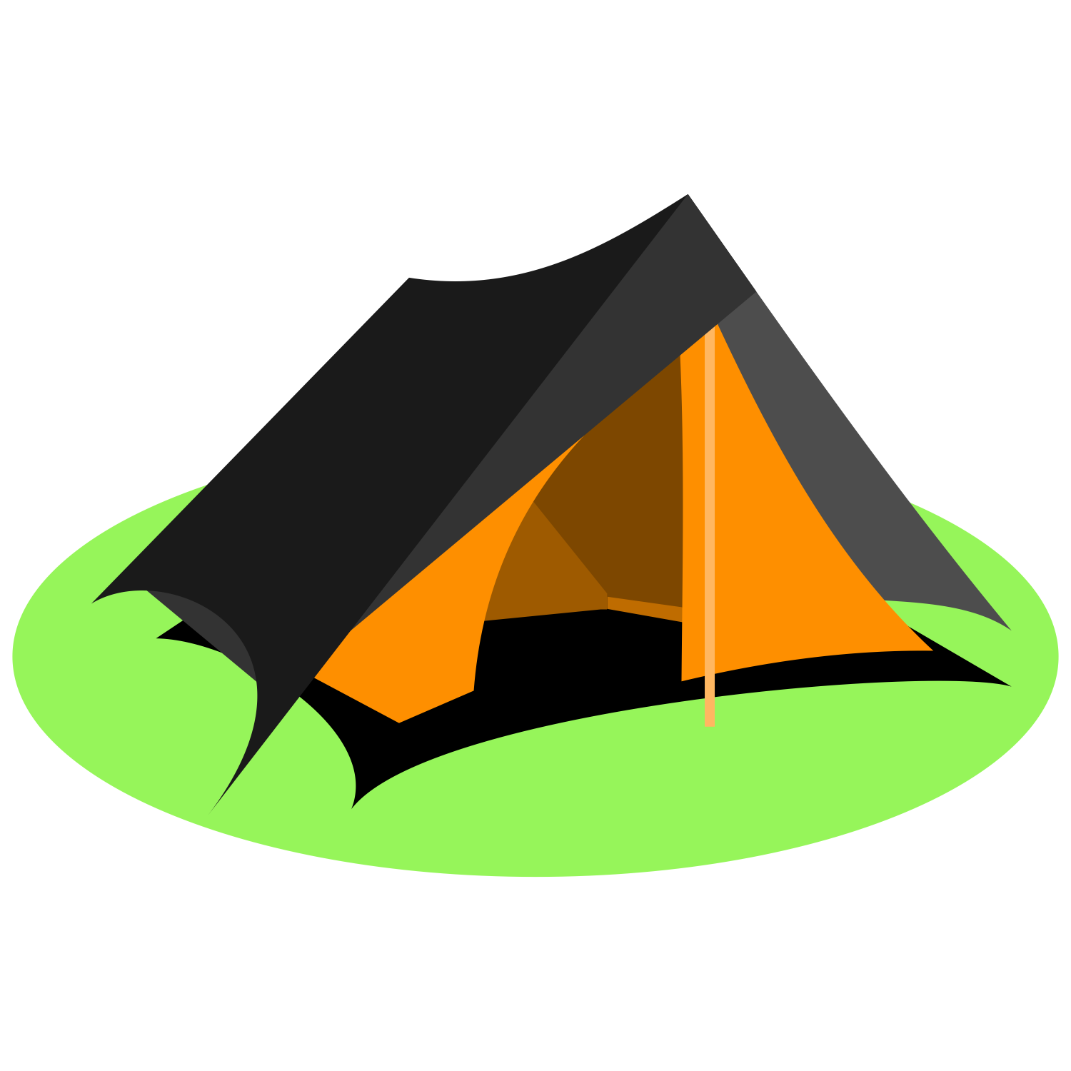 Vector for free use: Tourist tent