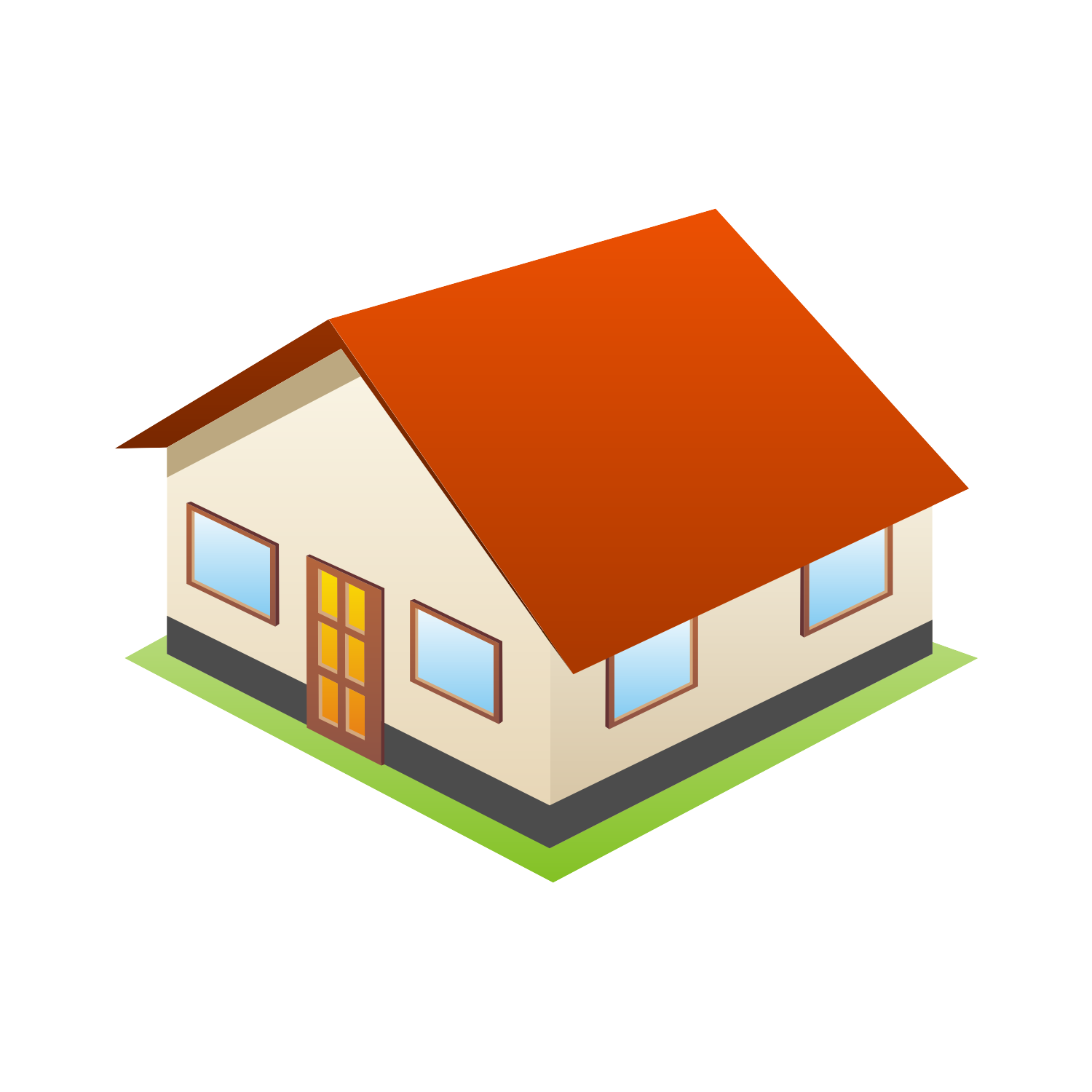 Vector For Free Use 3d House Icon