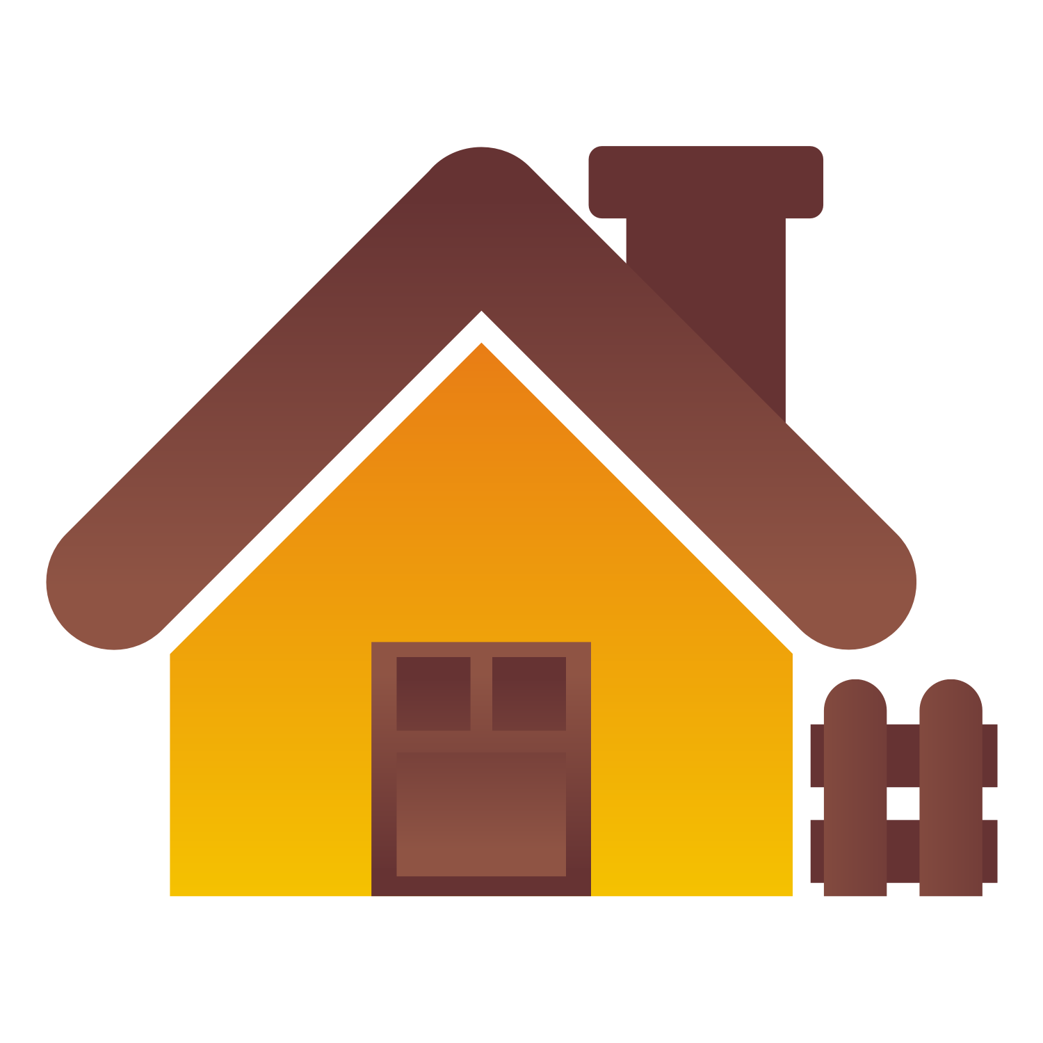 Cute house icon. Vector illustration.