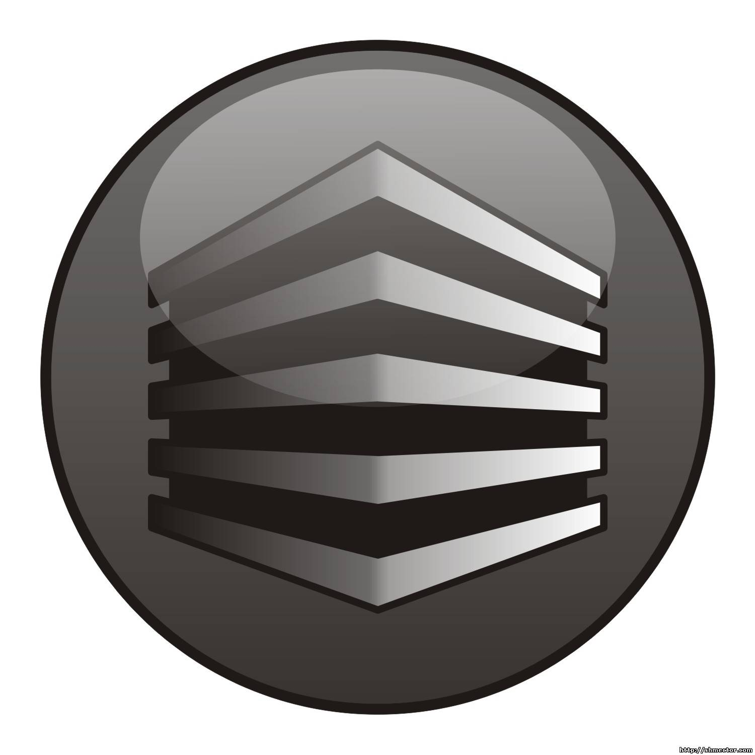 Vector illustration of a glossy button icon of a house