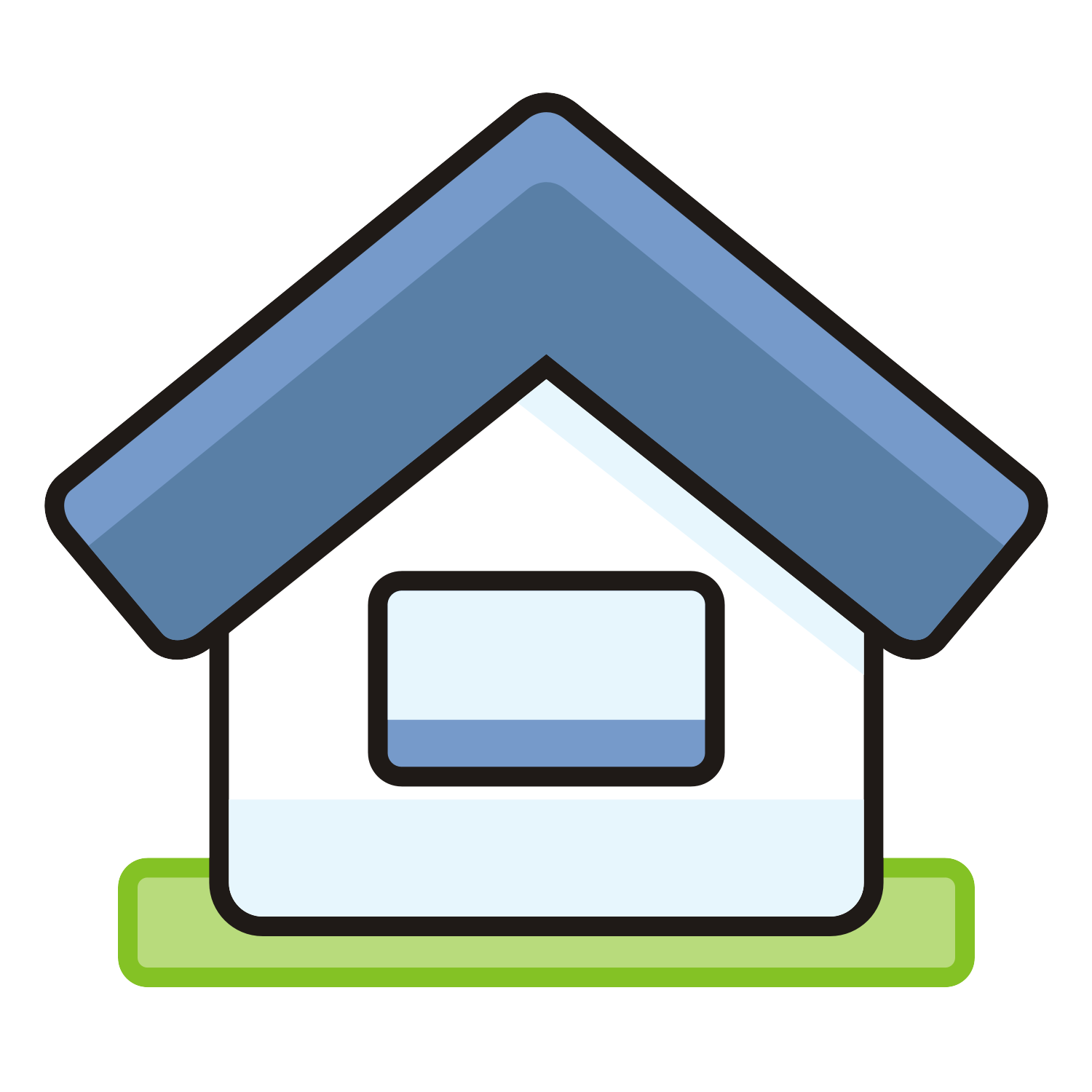 Vector for free use: Vector icon of a house