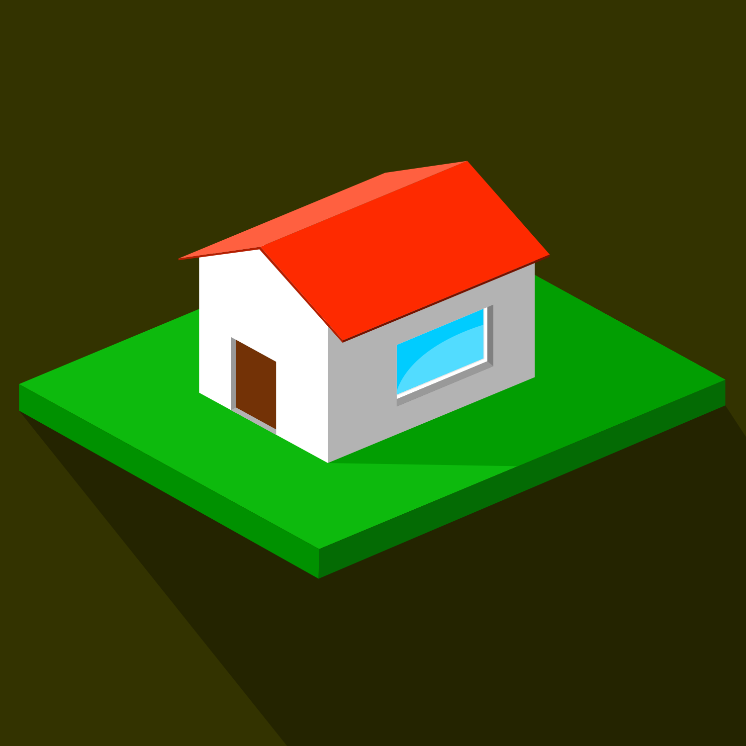 Vector For Free Use Isometric House