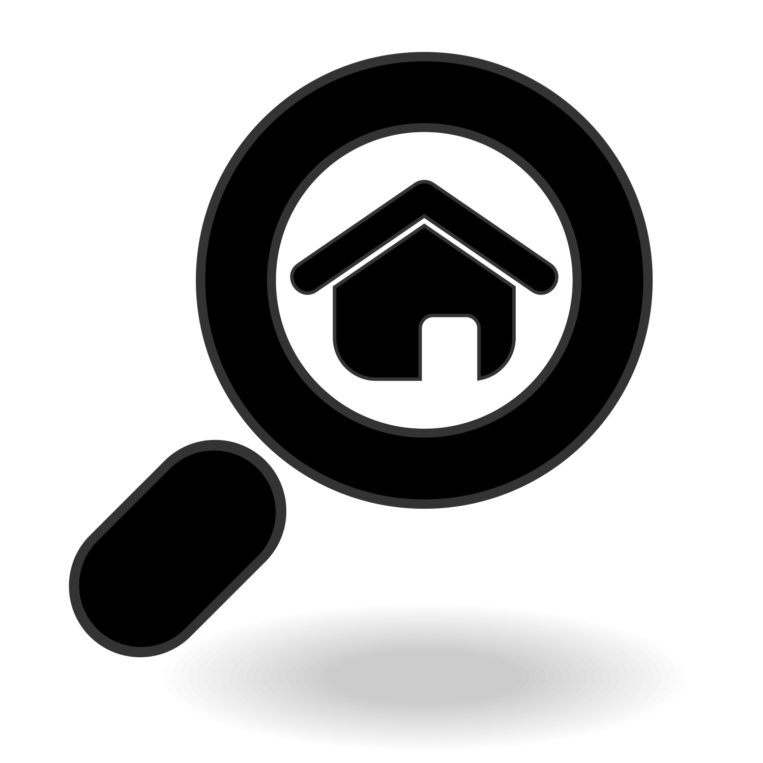 Vector for free use search home icon for Free home search