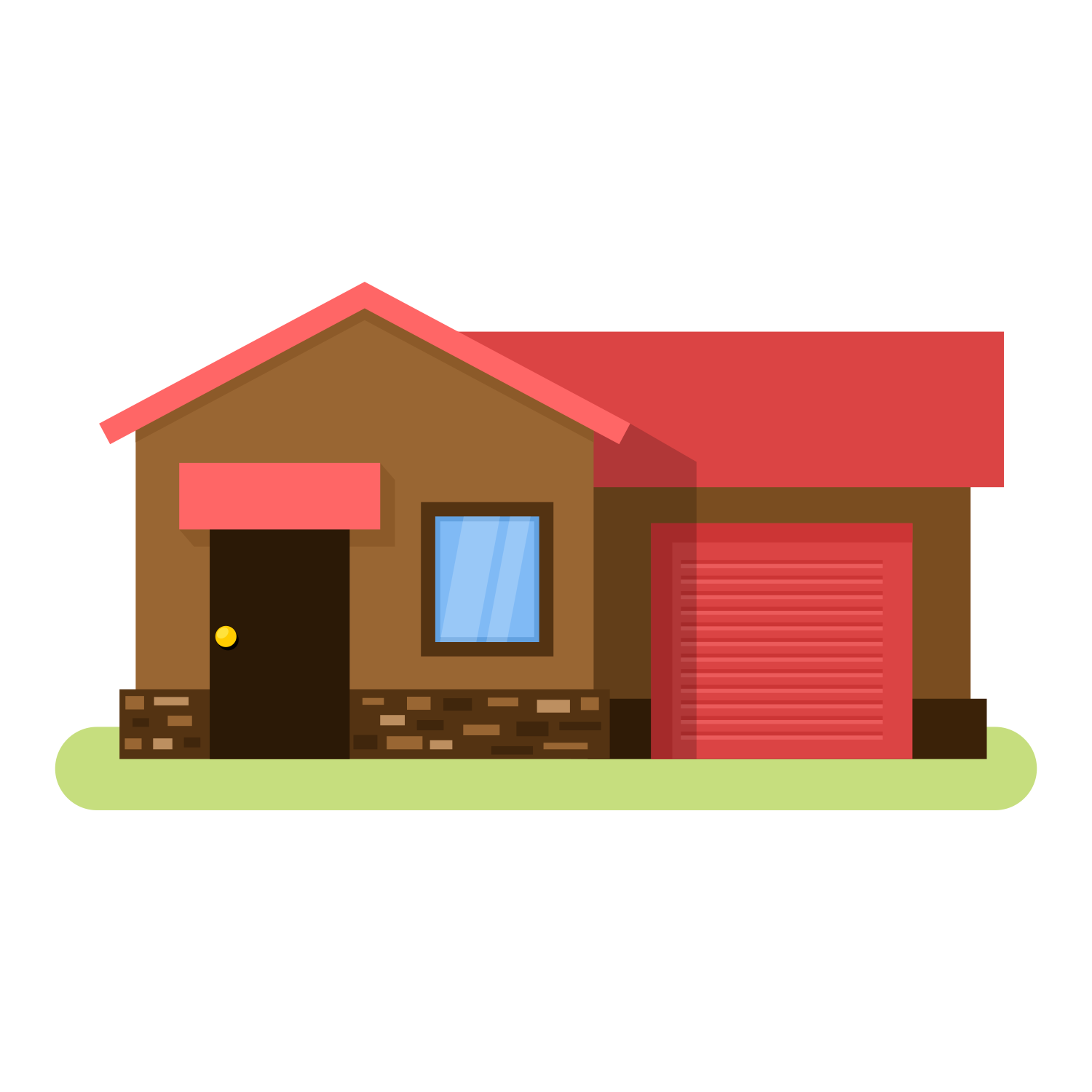 Flat cottage icon