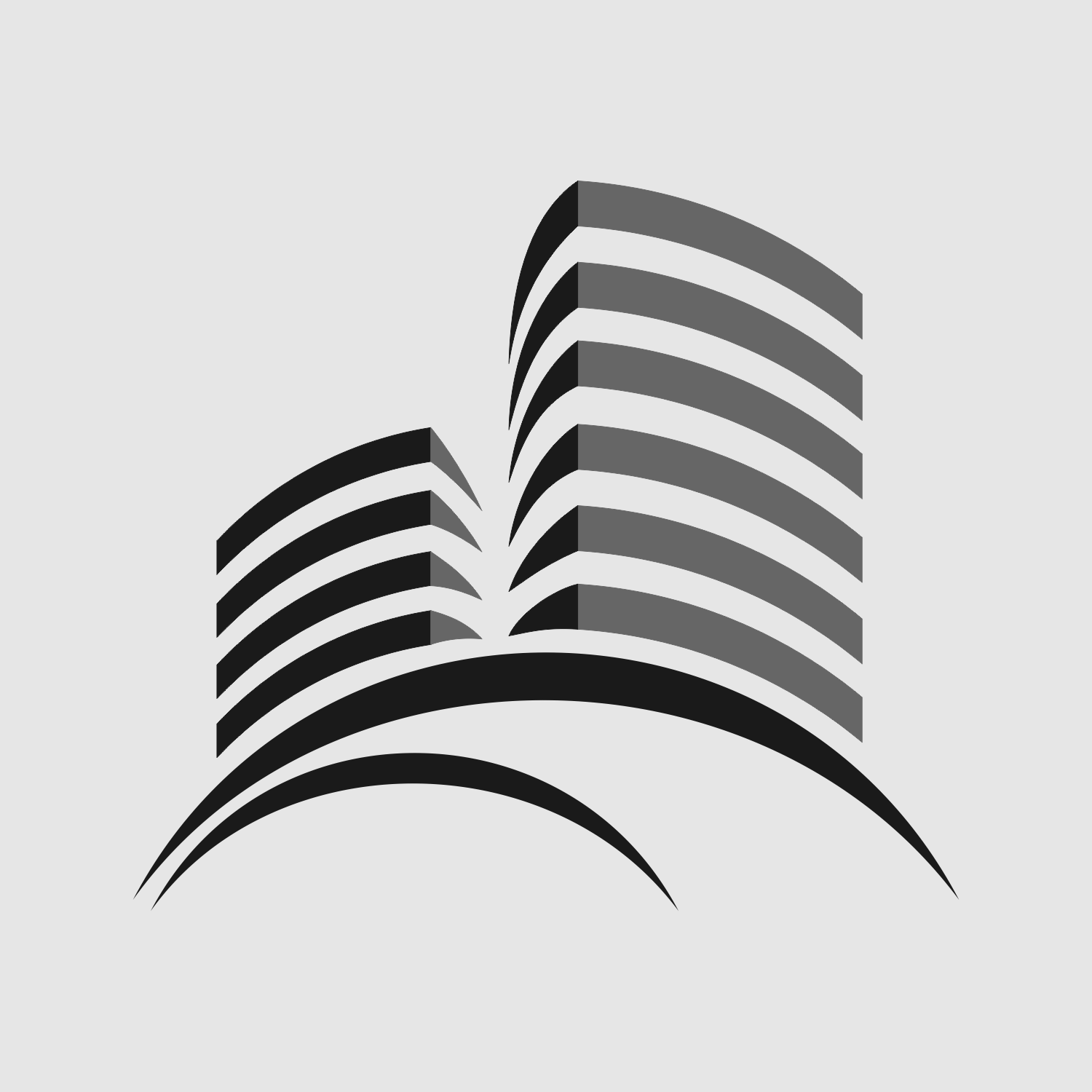 Vector For Free Use Modern Building Symbol