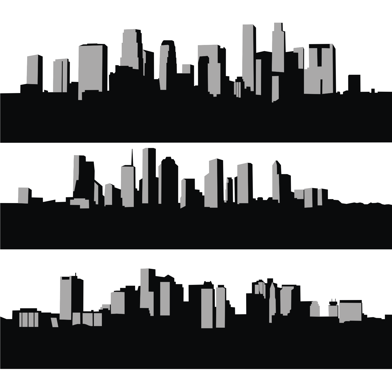 City skyline. Free vector illustration
