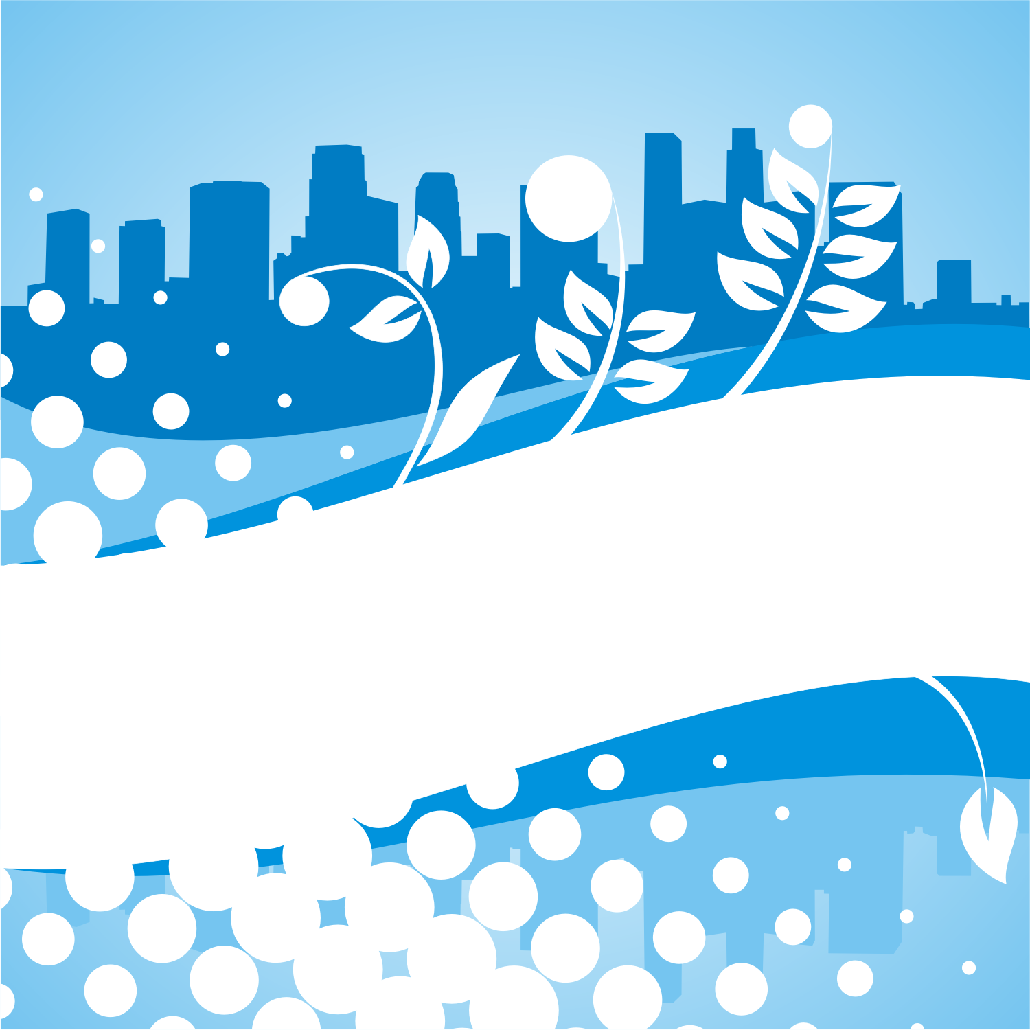 Vector For Free Use Blue City Background