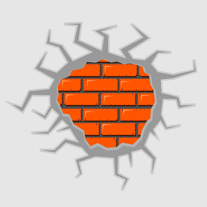 vector cracked wall