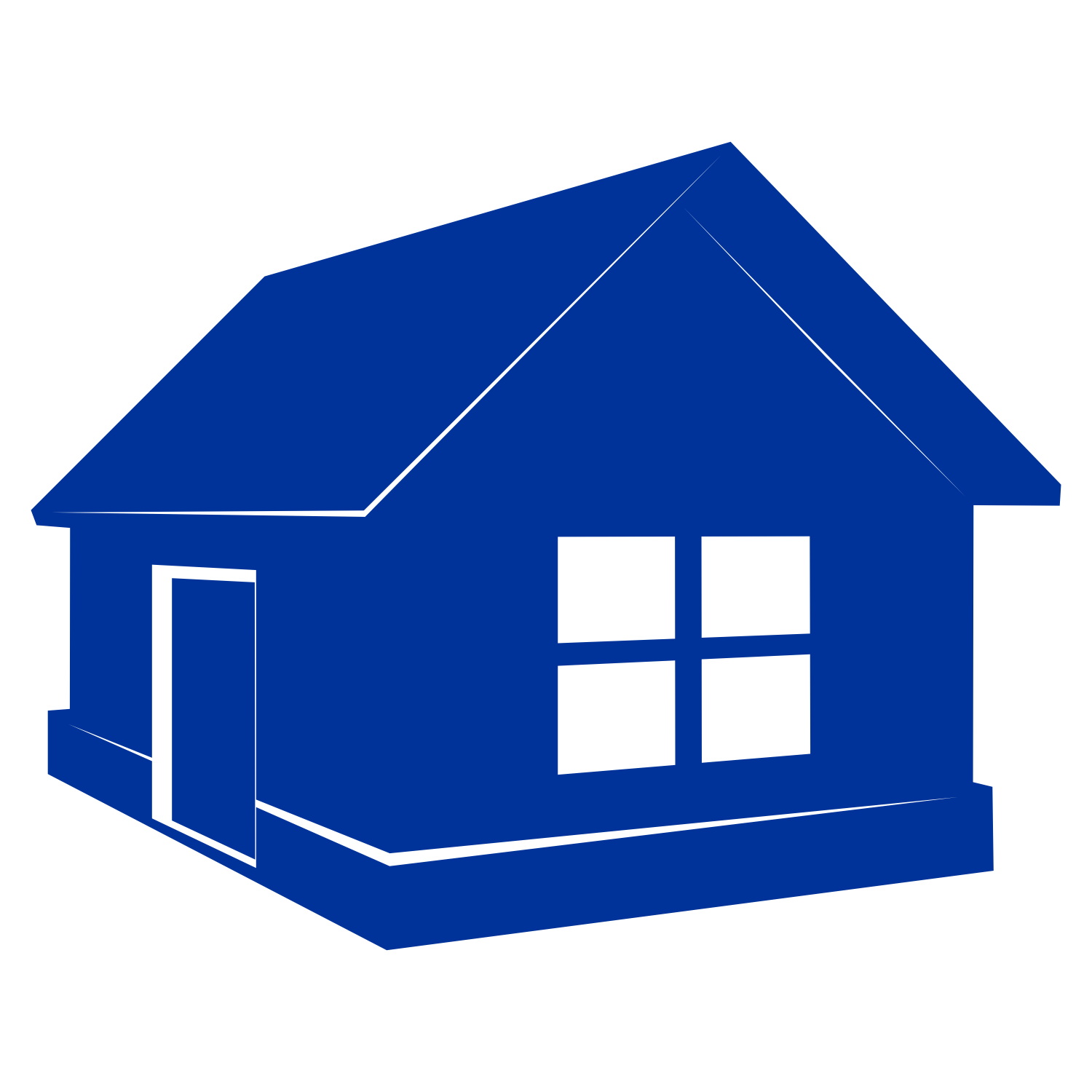 Vector for free use: Blue home vector