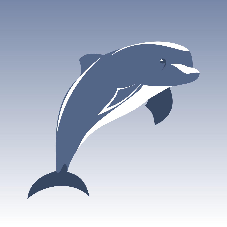 Дельфины картинки векторные