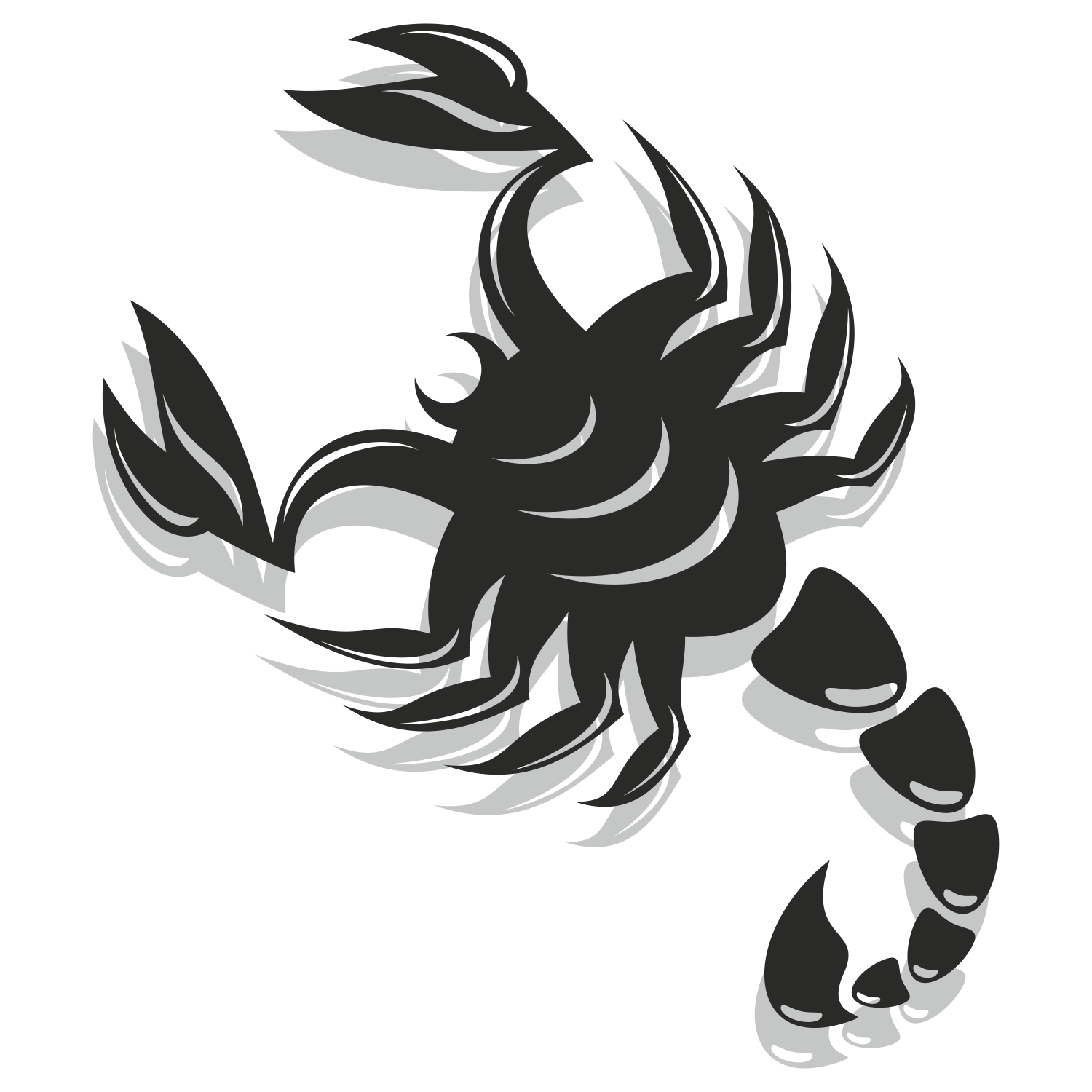 Vector for free use: Scorpion vector