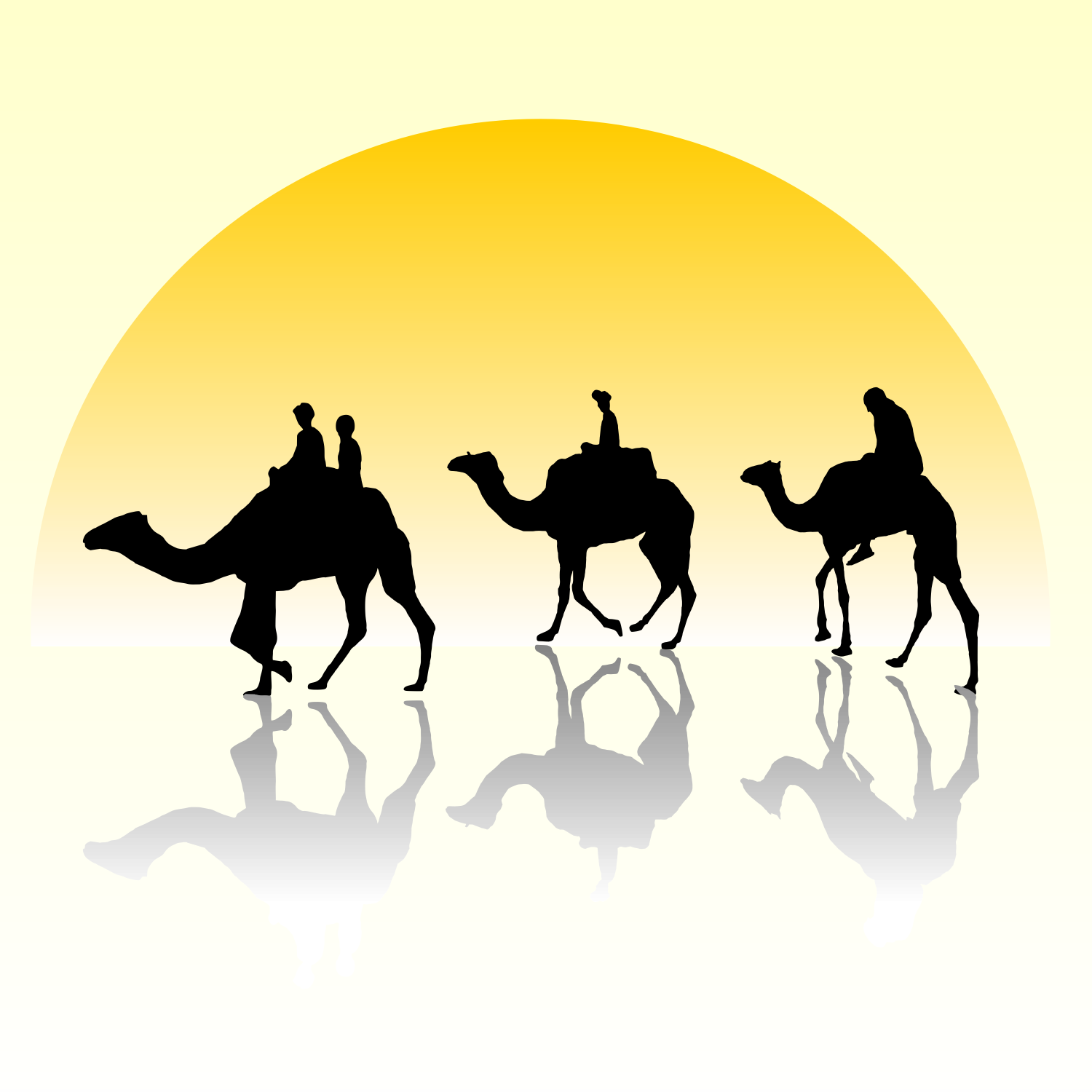 vector for free use camel riding