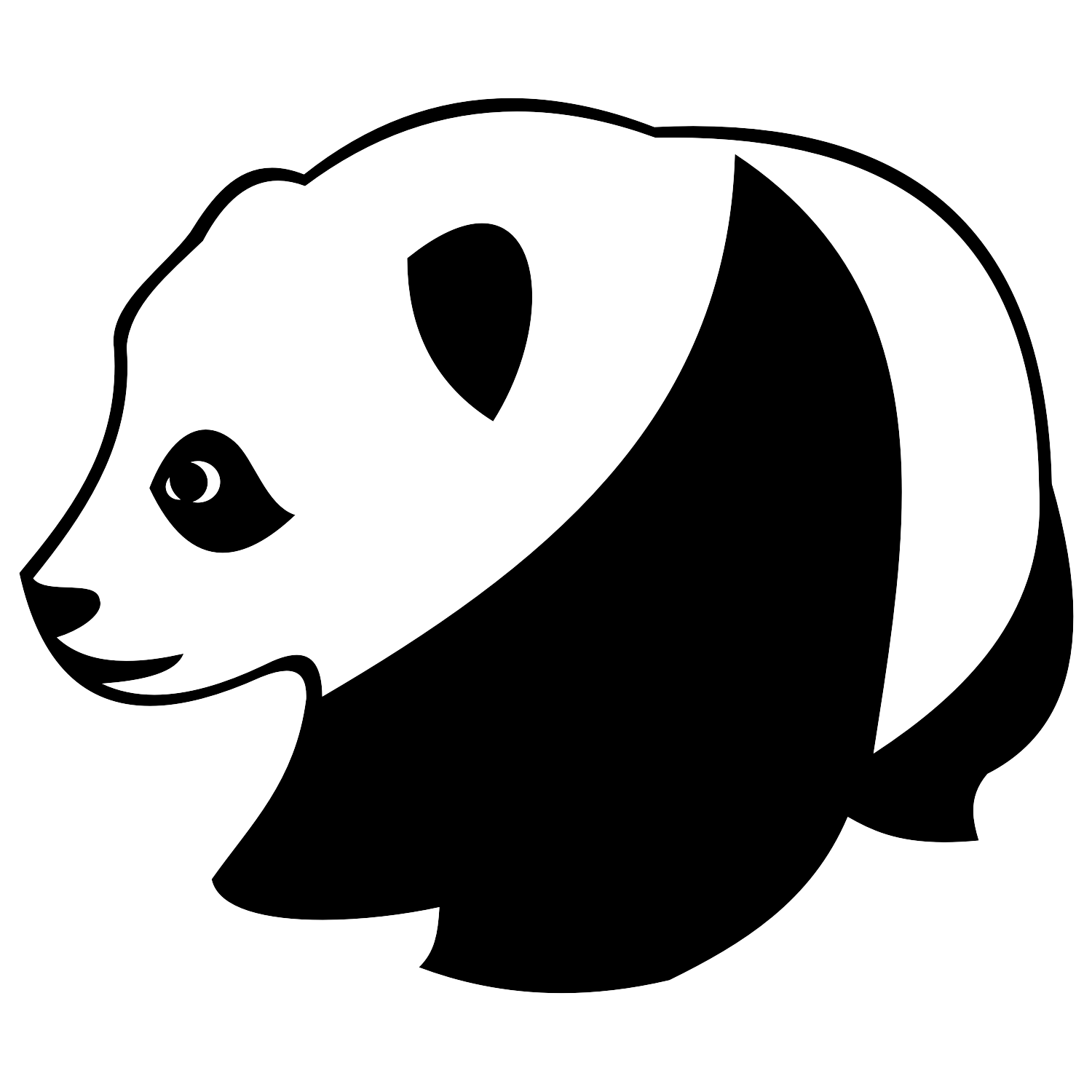 Vector illustration of a Panda