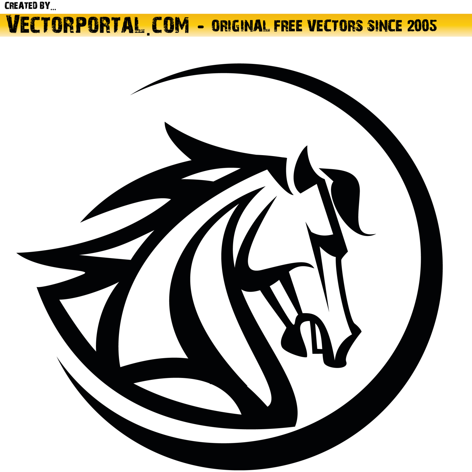 Horse head vector illustration.