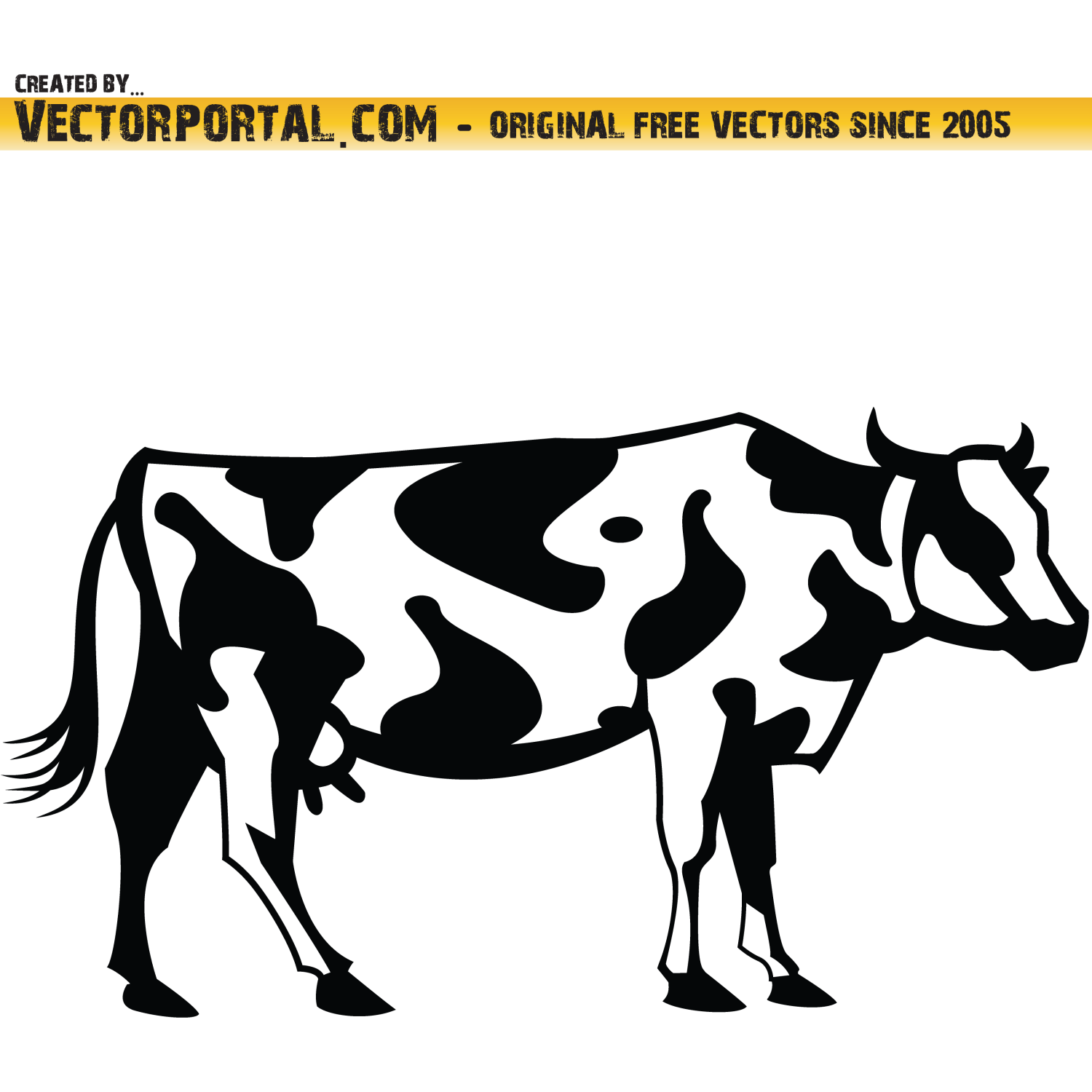 Cow vector clip art.