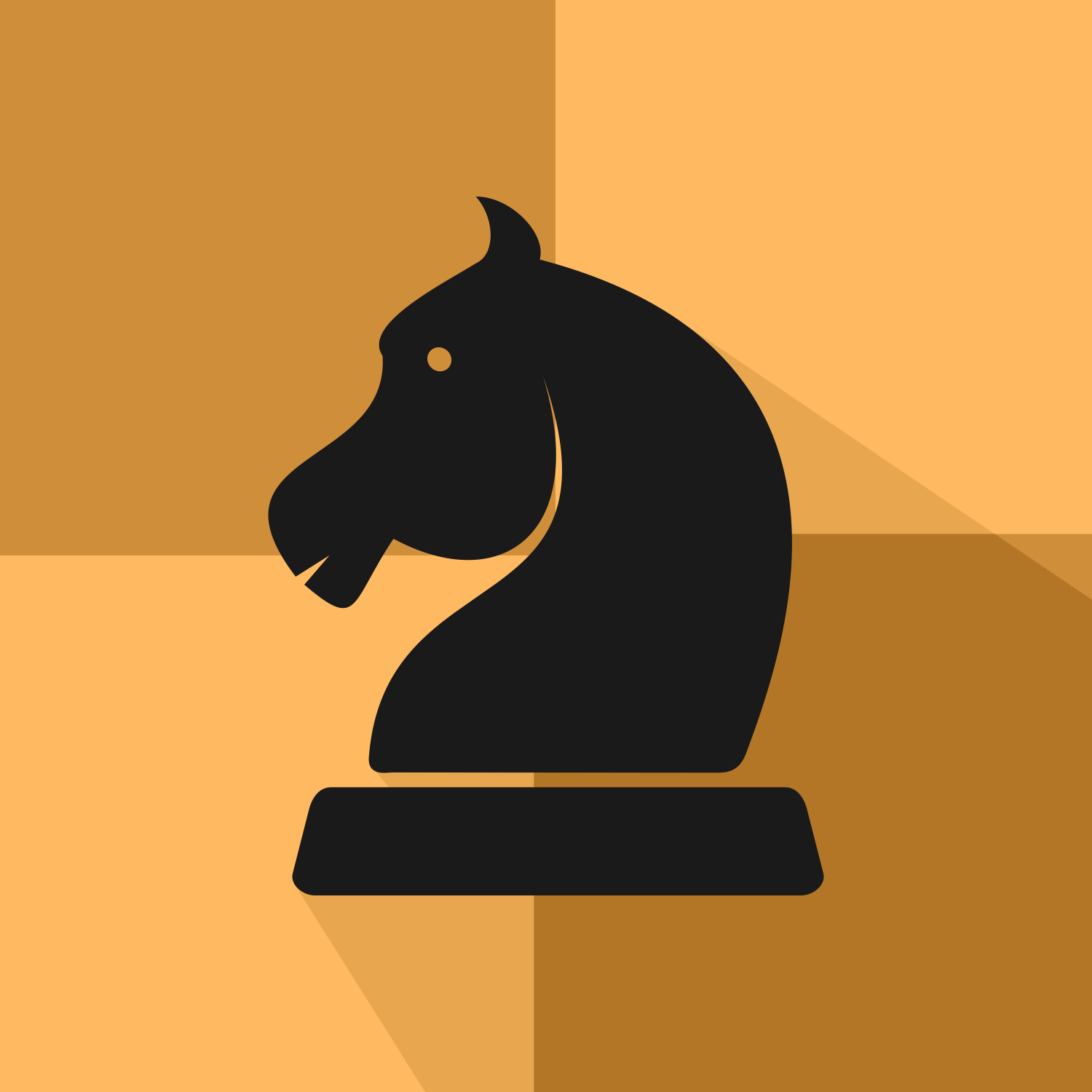 Chess Black Knight. Vector Icon