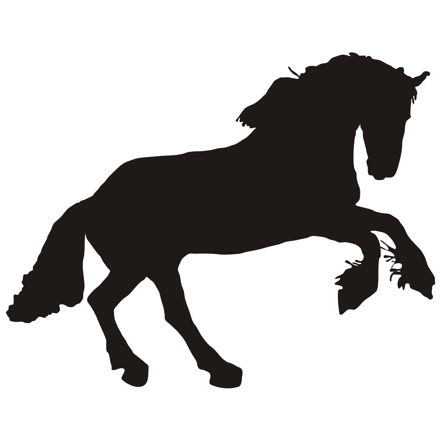 horse silhouettes free vector - photo #9