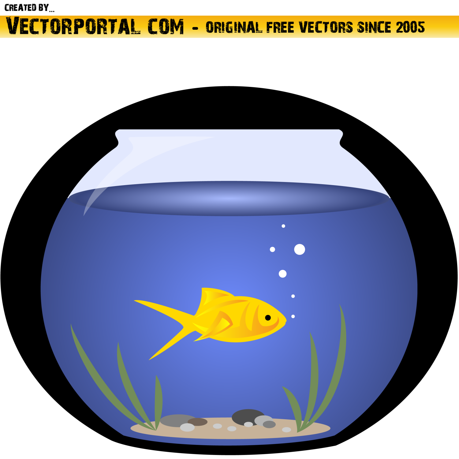 Fish in a pond vector