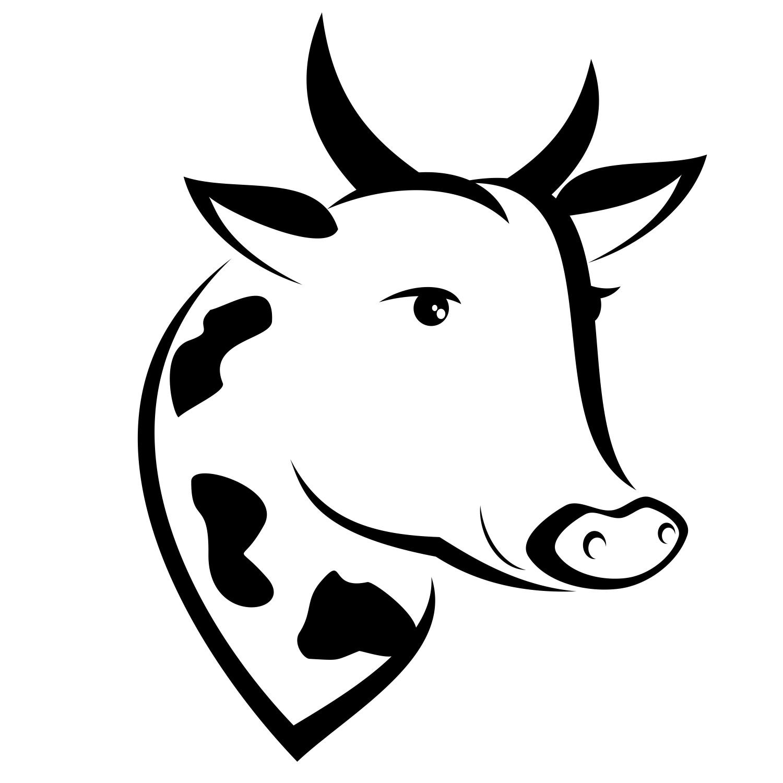 free cow head clipart - Jaxstorm.realverse.us