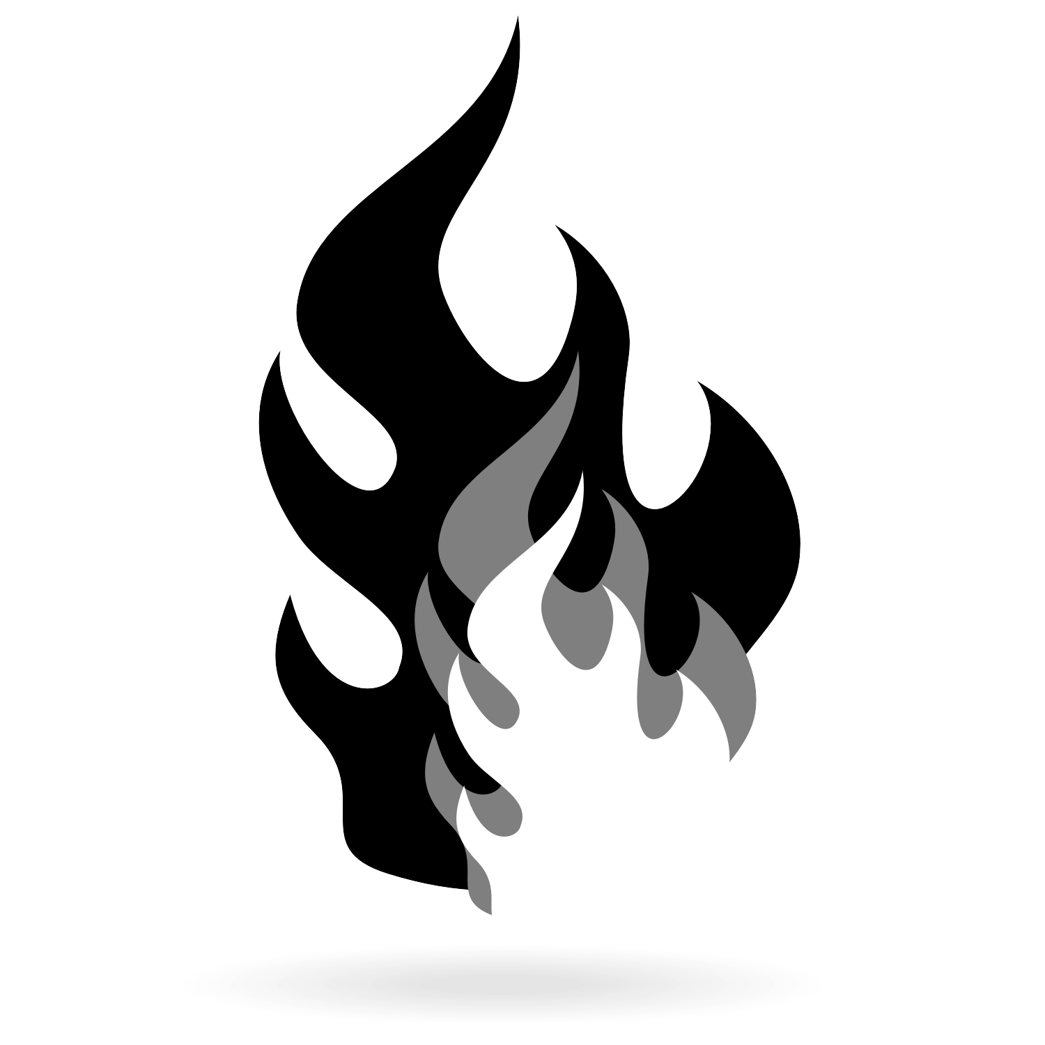 Vector for free use: Black flame vector