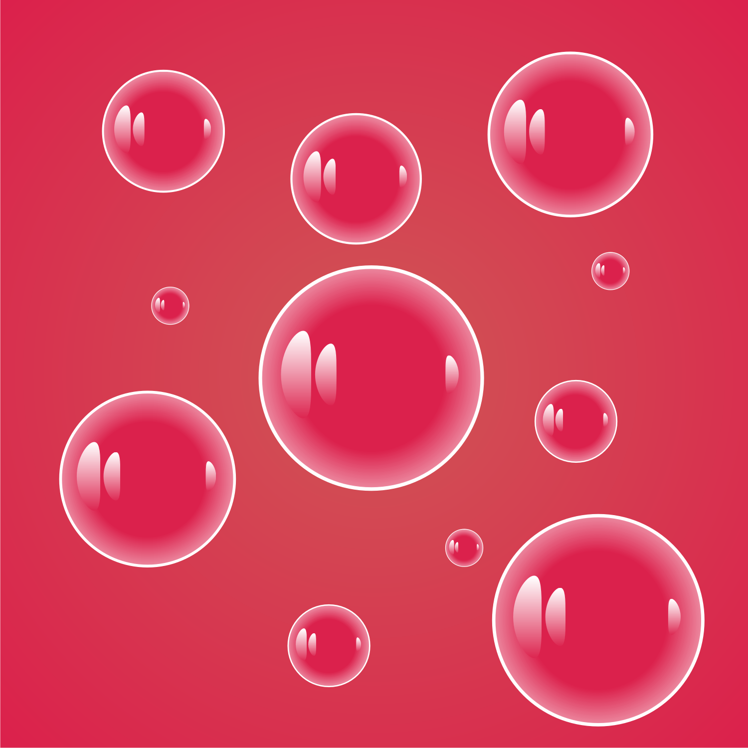 Bubbles vector