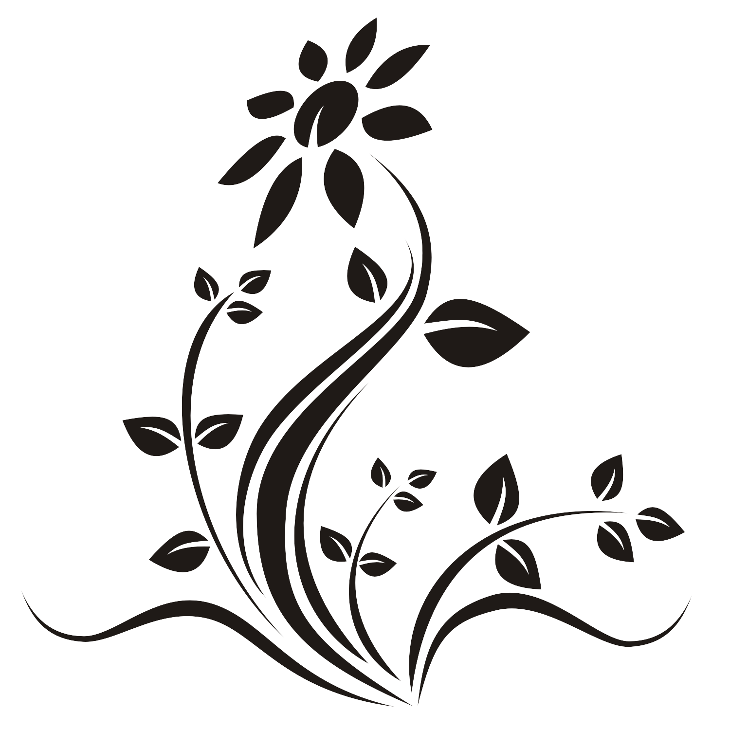 Line Art Flower Vector : Vector for free use flower tattoo