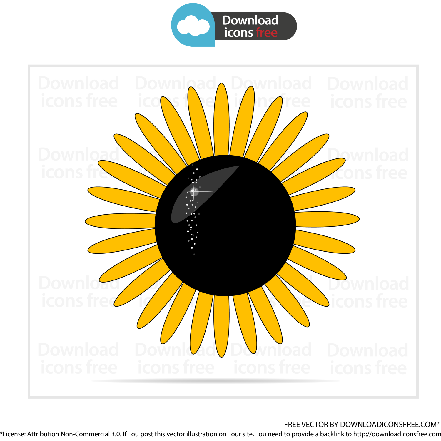 Download free vector sunflower