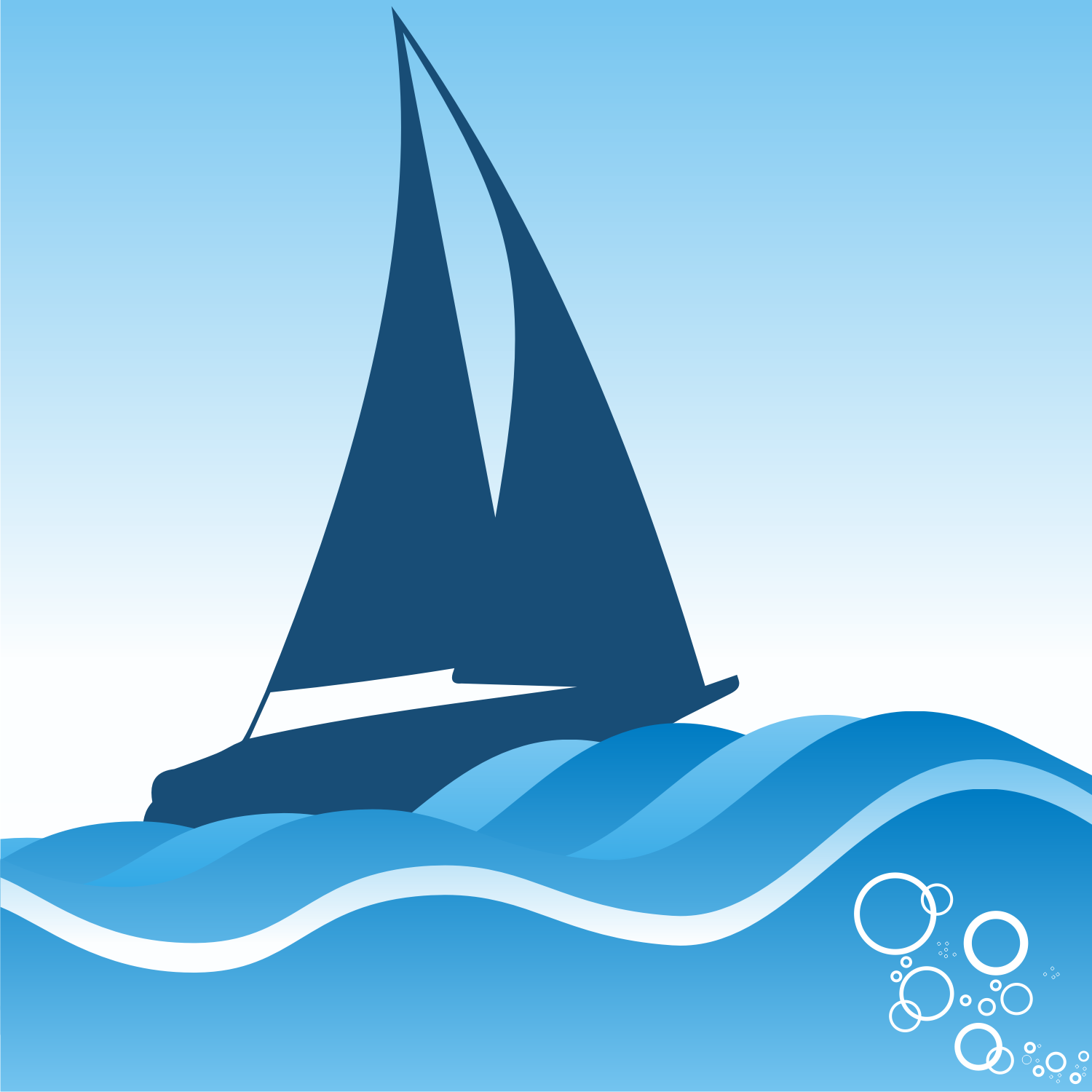 Vector for free use: Sailing ship