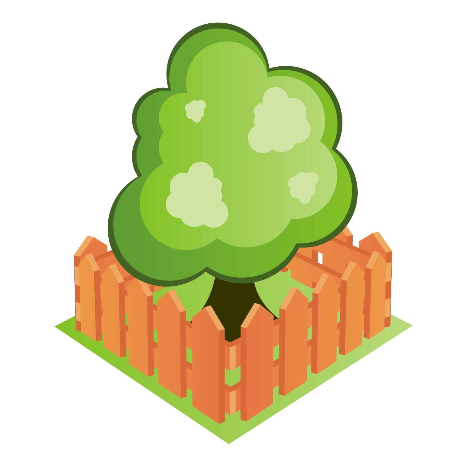 Tree vector icon.
