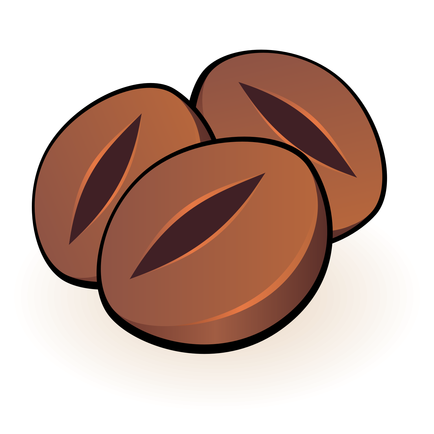 vector for free use three coffee beans vector for free use three coffee beans