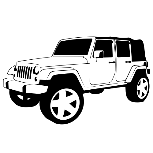 vector for free use  jeep wrangler