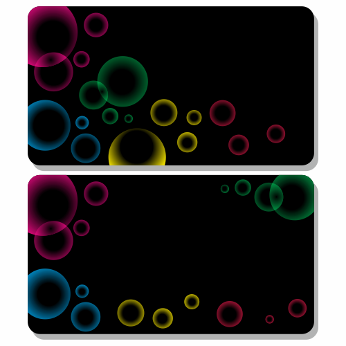 Vector for free use Gift card with bubbles