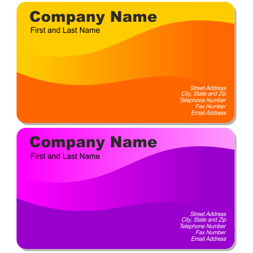 Vector for free use Two beautiful business cards