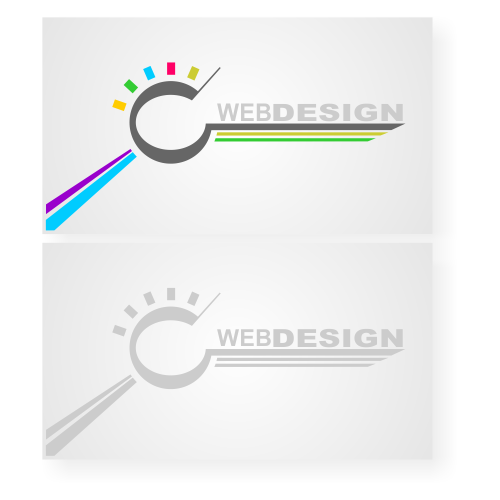 Vector for free use Web design business card