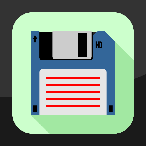 Flat floppy disk vector