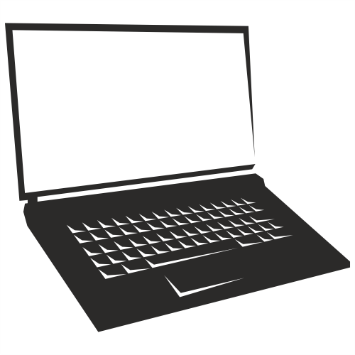 Vector for free use: Notebook laptop vector Laptop Vector