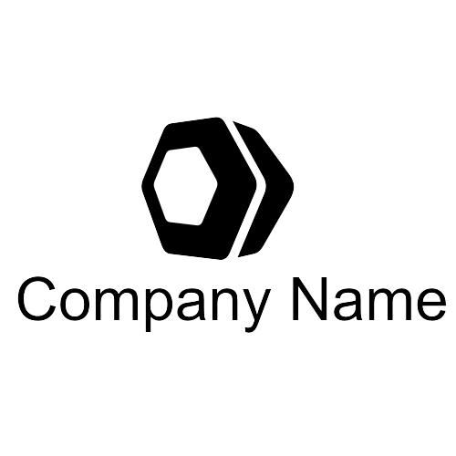 Vector for free use: Hexagon logo