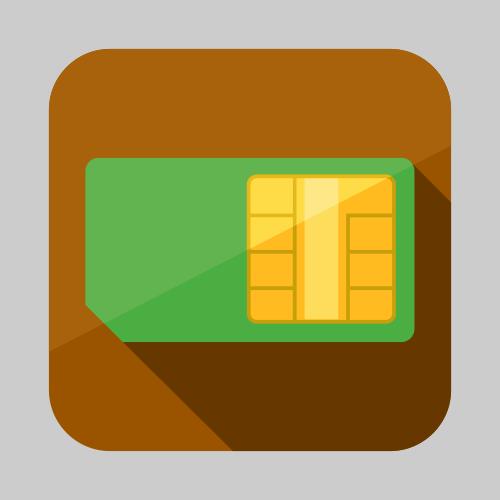 SIM card icon or button