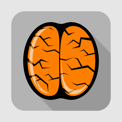 flat brain icon - photo #5