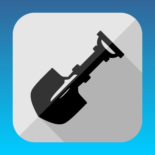 Flat spade vector