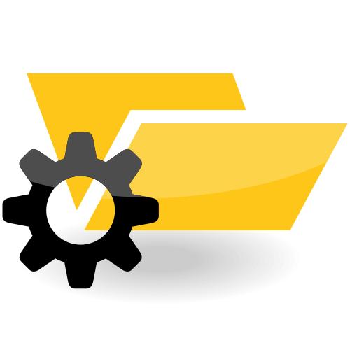 Vector folder with a gear