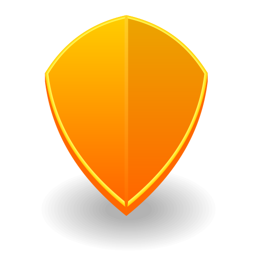 Icon Yellow Yellow Shield Icon