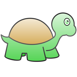 Green turtle vector