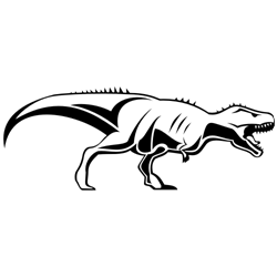 Vector illustration of a tyrannosaurus rex