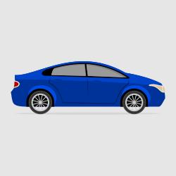 car sedan vector