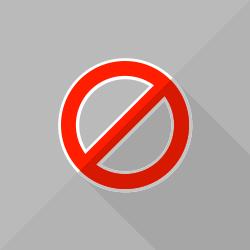 Stop Flat Symbol