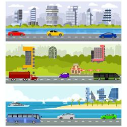 Car road vector