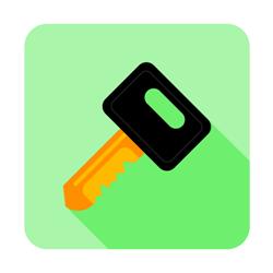 Flat key vector