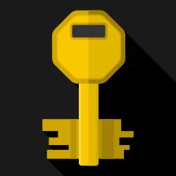 Flat key icon