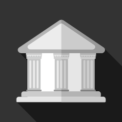 House with columns vector